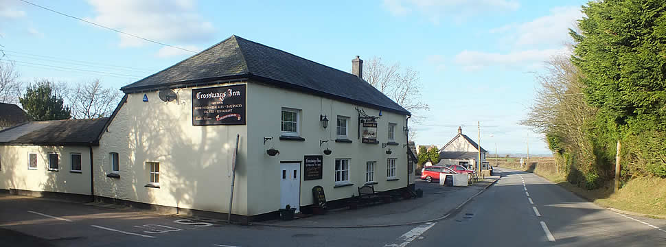 Crossways Inn at Folly Gate in Inwardleigh Parish